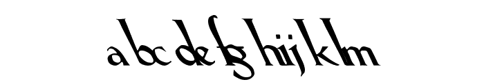 Lilith Heavy Leftie Font LOWERCASE