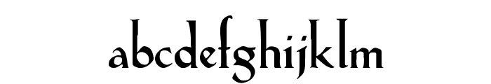 Lilith-Heavy Font LOWERCASE