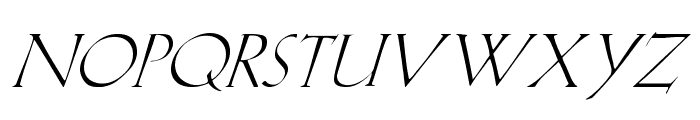 Lilith-Italic Font UPPERCASE
