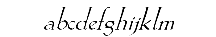 Lilith-Italic Font LOWERCASE