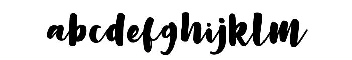 LilyWhite Font LOWERCASE