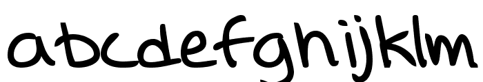 Lina's Hand bold Font LOWERCASE