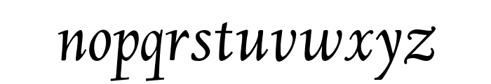 Linden Hill Italic Font LOWERCASE
