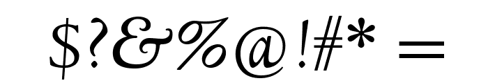 Linden Hill TT Italic Font OTHER CHARS