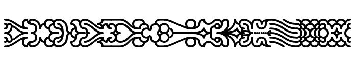 Line Dings [BRK] Font UPPERCASE