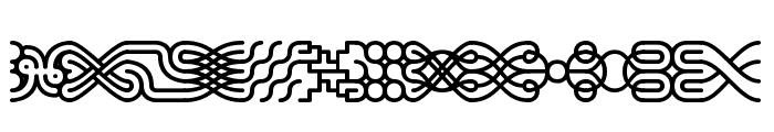 Line Dings [BRK] Font LOWERCASE