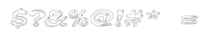 Line Etch Font OTHER CHARS