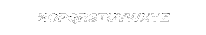 Line Etch Font LOWERCASE