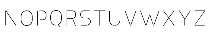 Line UltraLight Font UPPERCASE