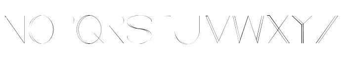 Line style UltraLight Font UPPERCASE