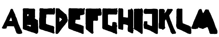 LineLineShapeDirty Font UPPERCASE