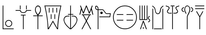 Linear-B Font UPPERCASE