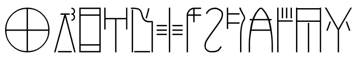 Linear-B Font LOWERCASE