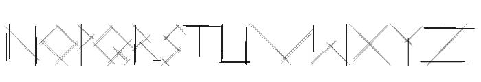 Linear Curve Font UPPERCASE