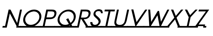 Linearmente-BoldItalic Font UPPERCASE