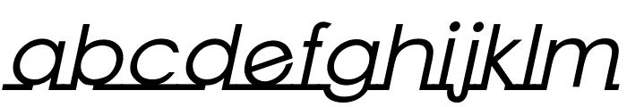Linearmente-BoldItalic Font LOWERCASE