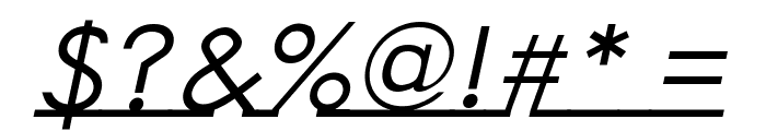 Linearmente-Italic Font OTHER CHARS