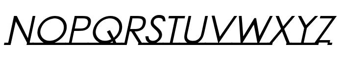 Linearmente-Italic Font UPPERCASE