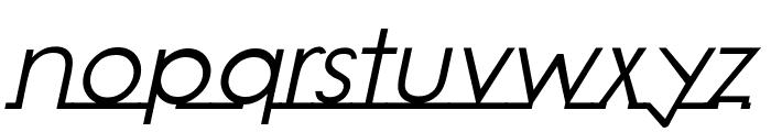 Linearmente-Italic Font LOWERCASE