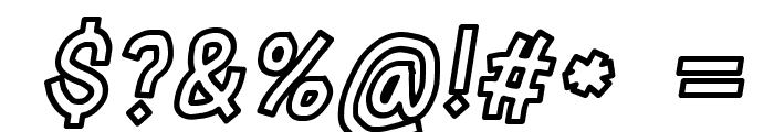 LinerTape Italic Font OTHER CHARS