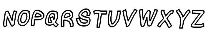 LinerTape Italic Font UPPERCASE
