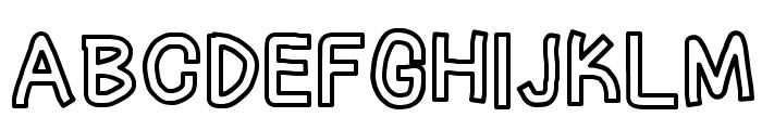LinerTape Font UPPERCASE