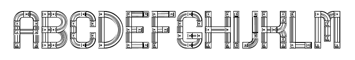 Linerine Regular Font UPPERCASE