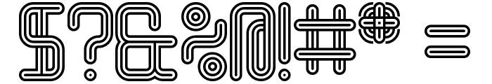 Linestrider Rounded Regular Font OTHER CHARS