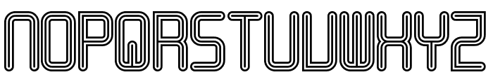 Linestrider Rounded Regular Font LOWERCASE