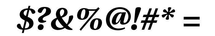 LinguisticsPro-BoldItalic Font OTHER CHARS