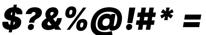 LinikSans-BlackItalic Font OTHER CHARS