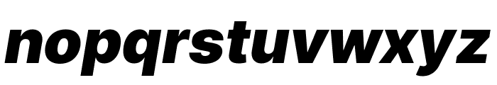 LinikSans-BlackItalic Font LOWERCASE
