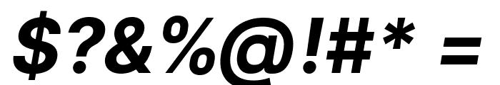 LinikSans-BoldItalic Font OTHER CHARS