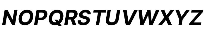 LinikSans-BoldItalic Font UPPERCASE