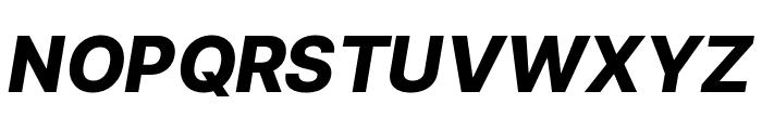 LinikSans-ExtraBoldItalic Font UPPERCASE