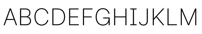 LinikSans-ExtraLight Font UPPERCASE