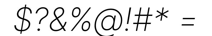 LinikSans-ExtraLightItalic Font OTHER CHARS