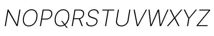 LinikSans-ExtraLightItalic Font UPPERCASE