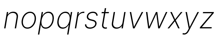 LinikSans-ExtraLightItalic Font LOWERCASE