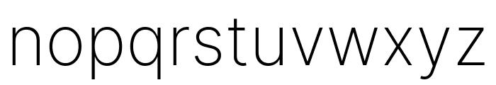 LinikSans-ExtraLight Font LOWERCASE