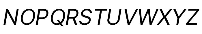 LinikSans-Italic Font UPPERCASE