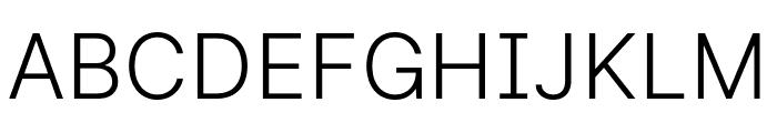 LinikSans-Light Font UPPERCASE