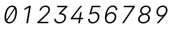 LinikSans-LightItalic Font OTHER CHARS