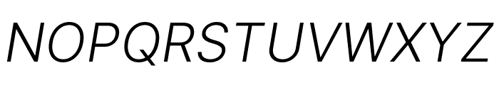 LinikSans-LightItalic Font UPPERCASE