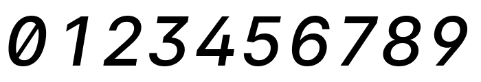 LinikSans-MediumItalic Font OTHER CHARS