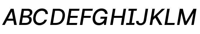 LinikSans-MediumItalic Font UPPERCASE