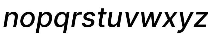 LinikSans-MediumItalic Font LOWERCASE