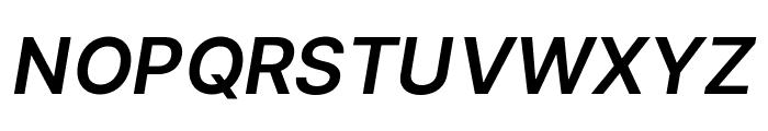 LinikSans-SemiBoldItalic Font UPPERCASE