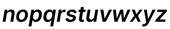 LinikSans-SemiBoldItalic Font LOWERCASE