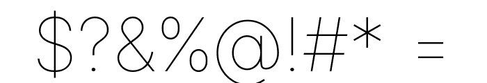 LinikSans-Thin Font OTHER CHARS
